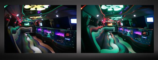 Lincoln White limo interior