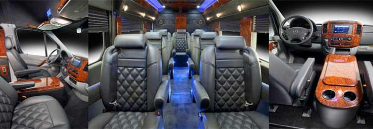 Sprinter shuttle Van Interior
